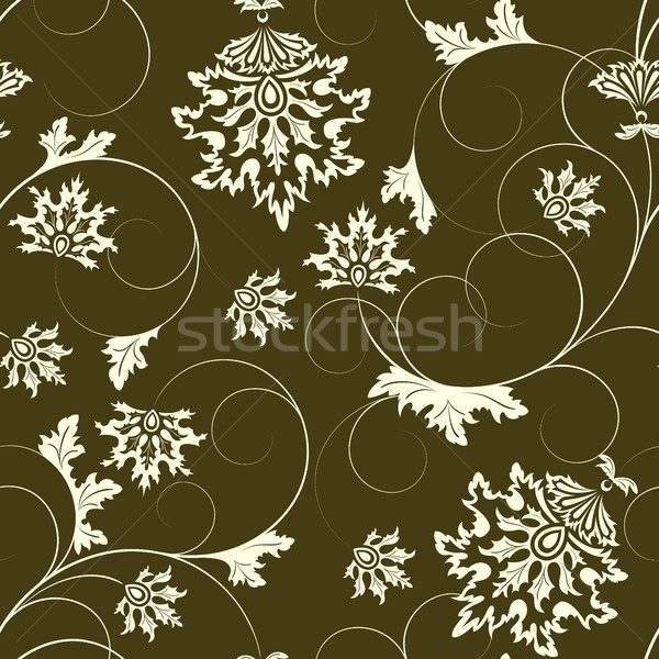 シームレス 花 ブラウン デザイン 背景 レトロな ストックフォト © ElenaShow
