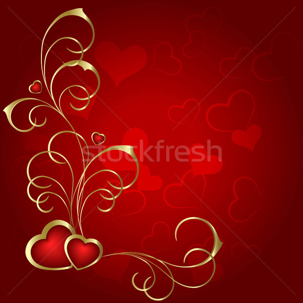 Kalp çift kalpler kırmızı dizayn çift Stok fotoğraf © ElenaShow