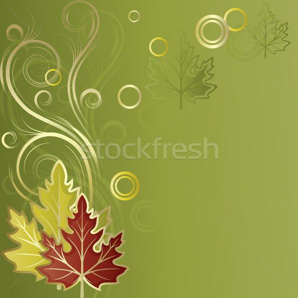 葉 緑 抽象的な ブラウン デザイン ストックフォト © ElenaShow