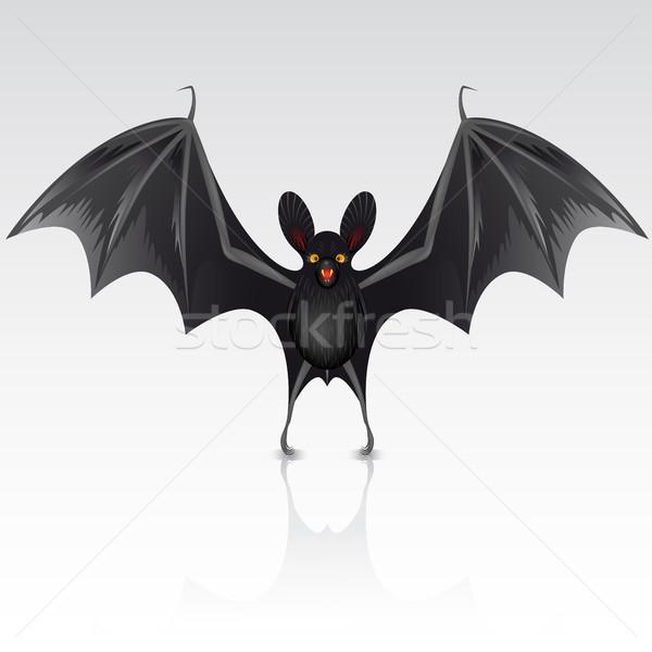 Noir bat blanche art signe animaux Photo stock © ElenaShow