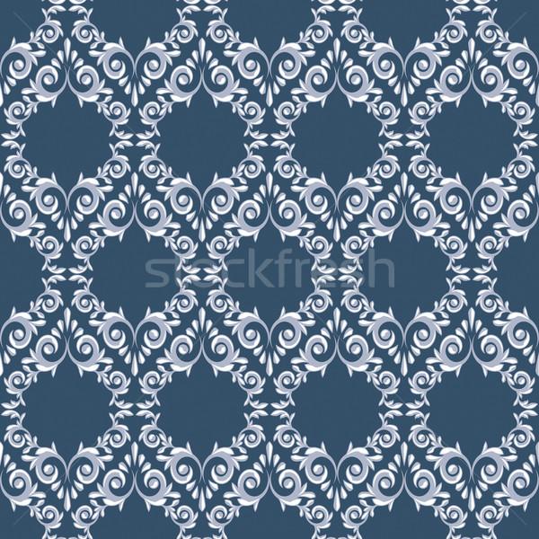 Azul branco folhas textura abstrato Foto stock © ElenaShow