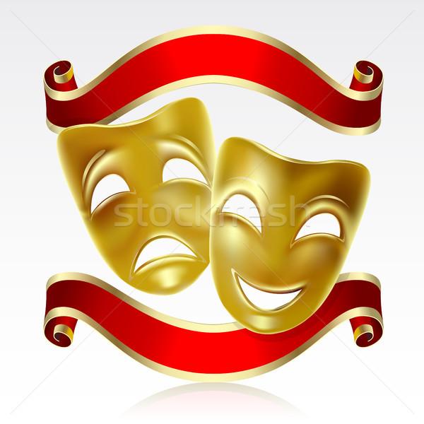 Teatrale maschere maschera felice Foto d'archivio © ElenaShow
