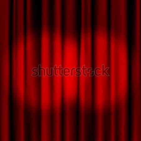 2 Red curtains Stock photo © ElenaShow