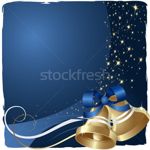 Noel soyut arka plan altın ipek poster Stok fotoğraf © ElenaShow