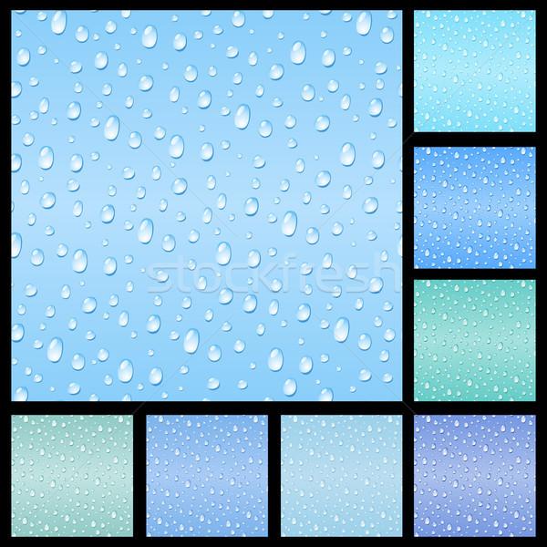Set senza soluzione di continuità drop acqua texture sfondo Foto d'archivio © ElenaShow