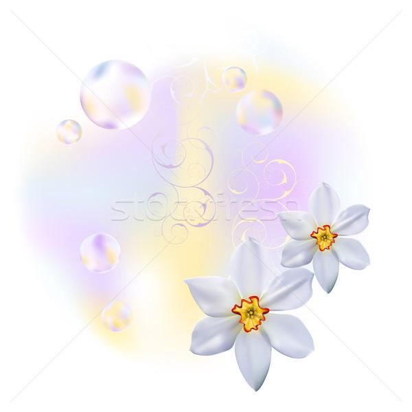 весны аннотация весенние цветы сфере дизайна искусства Сток-фото © ElenaShow