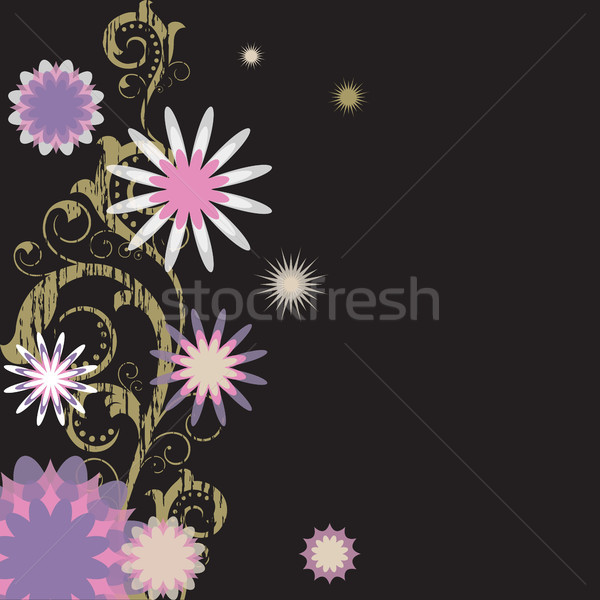 Flores preto abstrato rosa Foto stock © ElenaShow