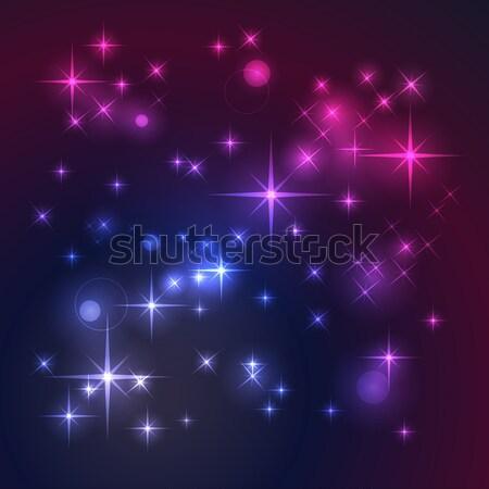 Espace étoiles résumé beauté star wallpaper Photo stock © ElenaShow