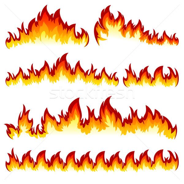 Flamme flammes différent blanche Photo stock © ElenaShow