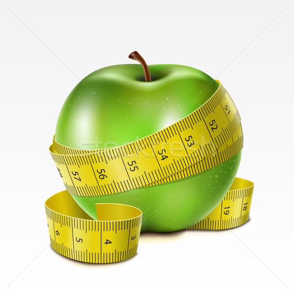 リンゴ センチ 緑 白 食品 健康 ストックフォト © ElenaShow