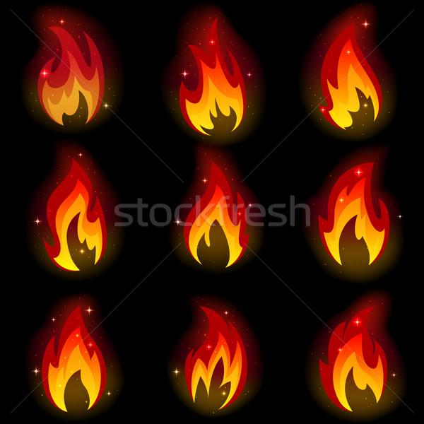 Raccolta fuoco nero file trasparenza Foto d'archivio © ElenaShow