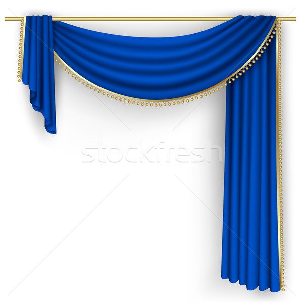 Blue curtain Mesh  Stock photo © ElenaShow