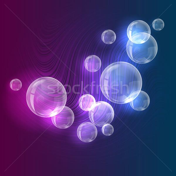 抽象的な バブル 水 光 ウェブ デジタル ストックフォト © ElenaShow
