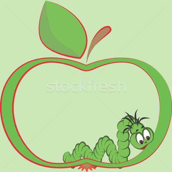 Apple and worm Stock photo © ElenaShow