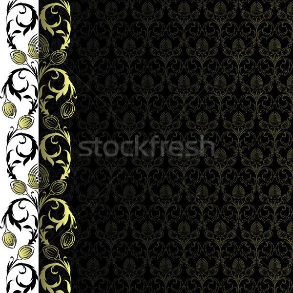 Fond or fleurs laisse texture feuille Photo stock © ElenaShow