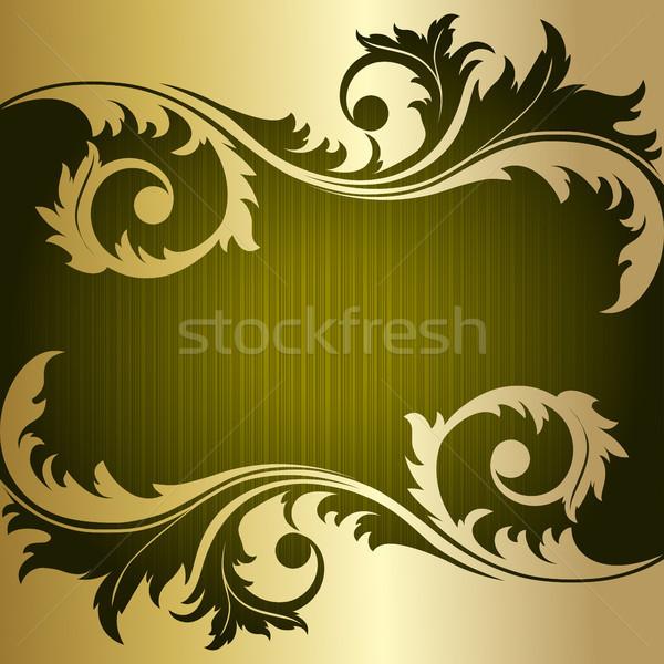 緑 レトロな 縞模様の 金 工場 葉 ストックフォト © ElenaShow