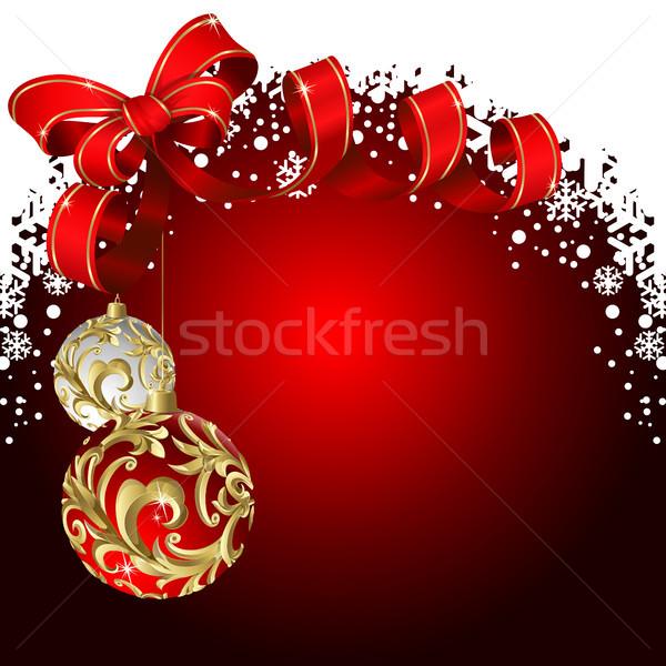 Noël rouge arc design art Photo stock © ElenaShow