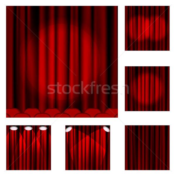 94 Red curtains Stock photo © ElenaShow
