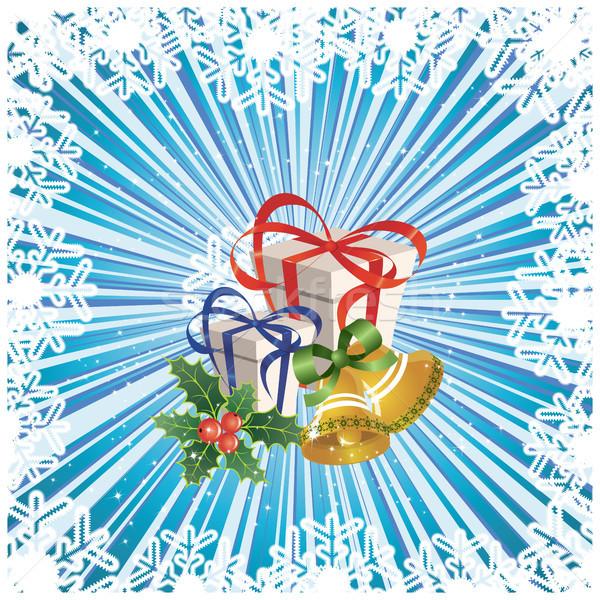 Natale abstract design foglia palla oro Foto d'archivio © ElenaShow