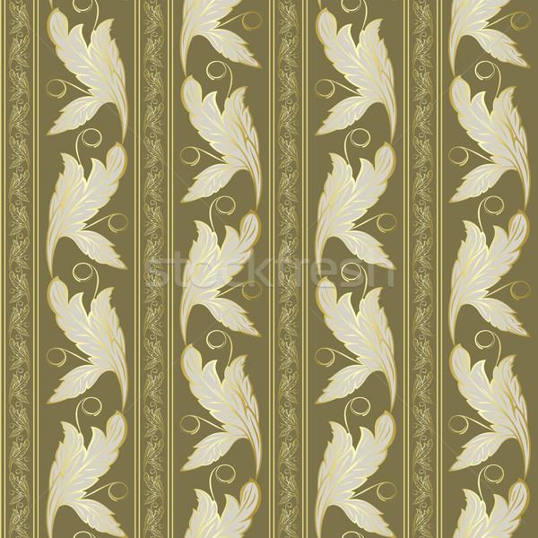 金 植物 抽象的な 緑 壁紙 ストックフォト © ElenaShow