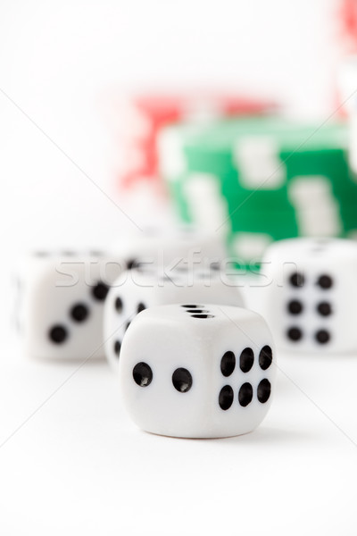 Poker chips and dice Stock photo © ElinaManninen