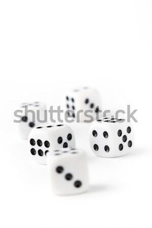 Kocka fehér lövés kicsi mélységélesség fekete Stock fotó © ElinaManninen