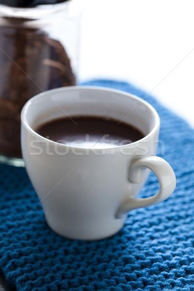 Sıcak çikolata fincan çikolata içmek enerji Stok fotoğraf © ElinaManninen