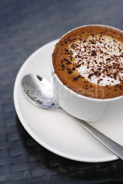 Delicious cappuccino in a white cup. Stock photo © ElinaManninen