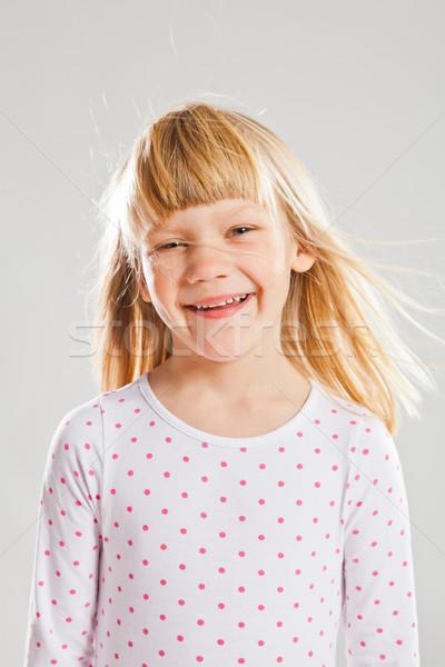 счастливым улыбаясь студию портрет ветер Сток-фото © ElinaManninen