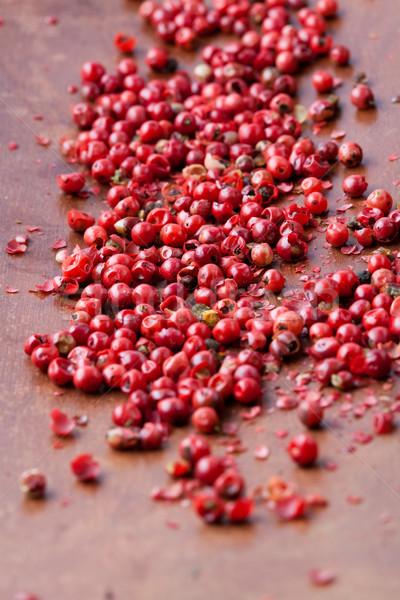 Red peppercorns Stock photo © ElinaManninen