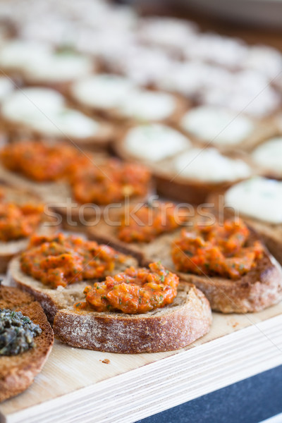 брускетта моцарелла сыра частей Сток-фото © ElinaManninen