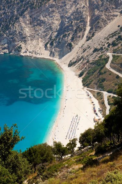 Plaży grecki wyspa wody lata zielone Zdjęcia stock © ElinaManninen