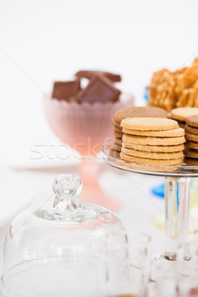 Biscuits on glass tray Stock photo © ElinaManninen