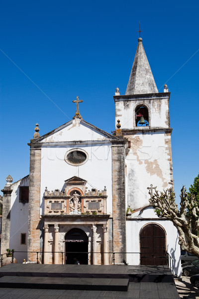 Templom mikulás kerület Portugália épület kék Stock fotó © ElinaManninen