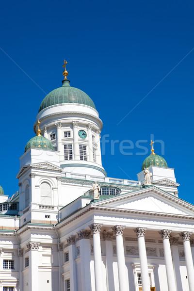 église Helsinki Finlande ciel bleu bâtiment bleu Photo stock © ElinaManninen