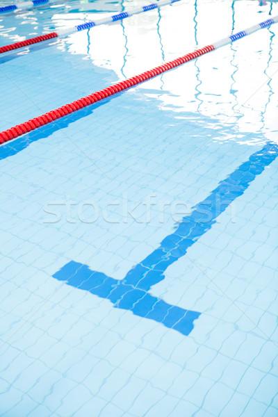 úszómedence fenék sáv vonal kötelek fény Stock fotó © ElinaManninen