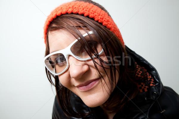 улыбка молодые модный женщина улыбается позируют Сток-фото © ElinaManninen