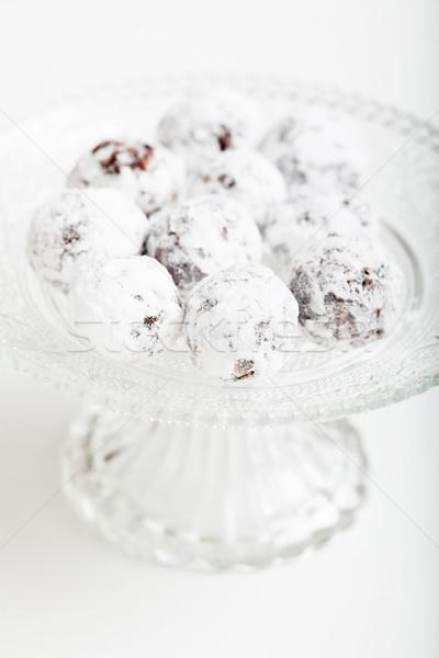 Chocolate açúcar de confeiteiro vidro Foto stock © ElinaManninen