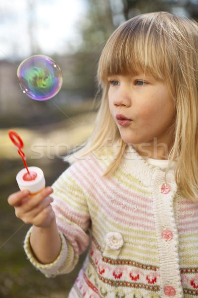 Stock foto: Kleines · Mädchen · Freien · cute · Kleidung · Gesicht