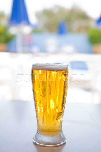Fresh and cold foamy beer Stock photo © ElinaManninen