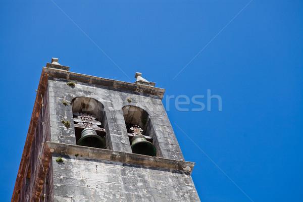 Belltower of Church of Santa Maria in Lourinha Stock photo © ElinaManninen