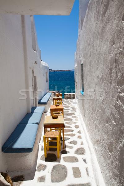 Outdoor restaurant tables Stock photo © ElinaManninen