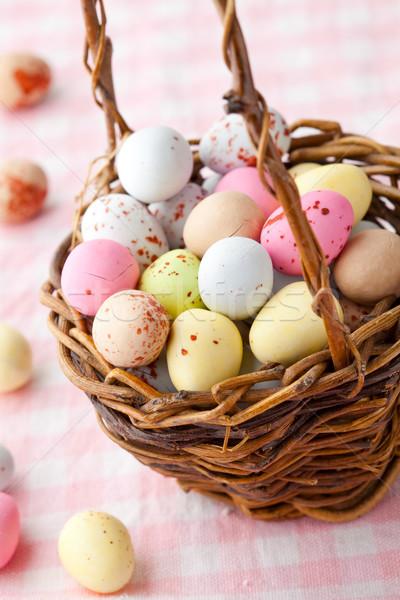 Пасху конфеты пастельный шоколадом Сток-фото © ElinaManninen