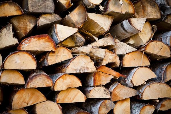 Boglya tűzifa összes kész tél fa Stock fotó © ElinaManninen