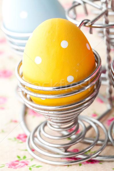 Stock fotó: Húsvéti · tojások · közelkép · pasztell · színes · fém · tavasz