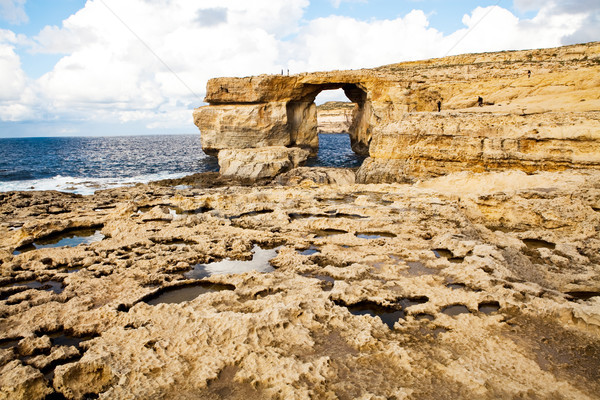 Natural rock arch Azure Window, Gozo Stock photo © ElinaManninen