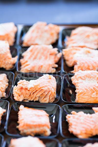 Lazac előételek közelkép kicsi adag étel Stock fotó © ElinaManninen