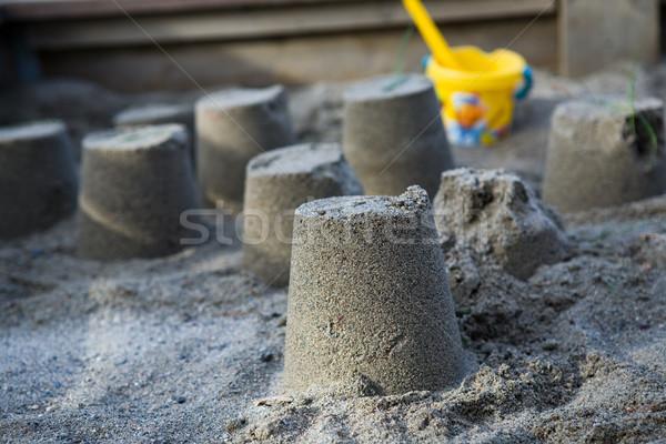 Sand castles Stock photo © ElinaManninen