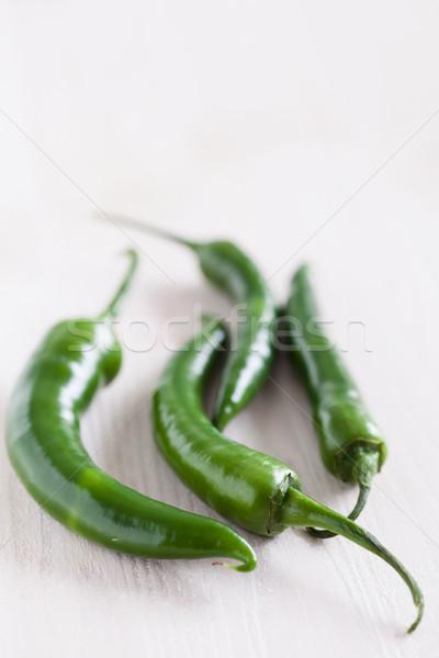Zielone cztery długo świetle Zdjęcia stock © ElinaManninen