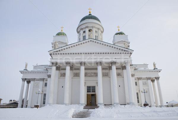 Helsinki cathédrale froid hiver jour ciel Photo stock © ElinaManninen